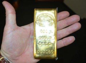 kleiner Goldbarren