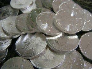 Silber in Münzen